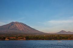 Tulamben海滩巴厘岛印度尼西亚 库存图片