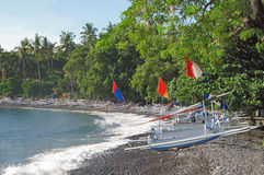 Tulamben kust Bali 02 Arkivfoto