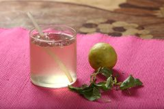 Tulasi Lemonade , Holy Basil Lemonade. Tulasi, With immense benefits right from clear skin to dissolving kidney stones, tulsi is tonic for the entire body, it royalty free stock photos