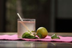 Tulasi Lemonade , Holy Basil Lemonade stock image