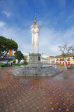 TULCAN,厄瓜多尔- 2016年7月3日:位于城市的中央公园的独立纪念碑 库存照片