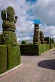 Tulcan é conhecido para o Topiary o mais elaborado no mundo novo fotos de stock royalty free