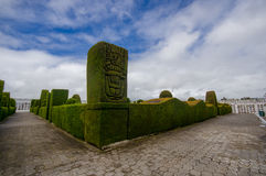 TULCAN, ΙΣΗΜΕΡΙΝΌΣ - 3 ΙΟΥΛΊΟΥ 2016: prehispanic μορφή στη γωνία του κήπου cemeterys Στοκ φωτογραφία με δικαίωμα ελεύθερης χρήσης
