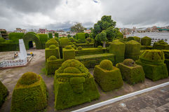 TULCAN, ECUADOR - JULY 3, 2016: nice view of the topiary garden located at the cemetery Stock Image