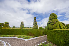 TULCAN, ECUADOR - JULY 3, 2016: the topiary of the cemetery is famous because of its prehispanic sculptures Stock Images