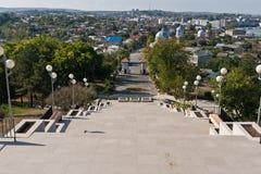 Tulcea, Ansicht von der Oberseite lizenzfreie stockfotografie