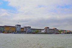 Tulcea city, view from the Danube. Royalty Free Stock Image