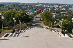 Tulcea, view from the top Royalty Free Stock Photography