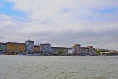 Tulceastad, mening van de Donau royalty-vrije stock afbeelding