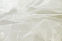 Tule do casamento ou fundo da gaze de seda Imagem de Stock Royalty Free