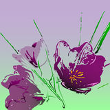 Tulipán de la acuarela de los polígonos del vector Fotos de archivo
