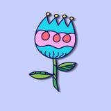 Tulipán del dibujo de la mano Imágenes de archivo libres de regalías