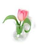 Tulipán rosado en un florero Foto de archivo libre de regalías