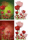 Tulip background. Red tulips background illustration theme Royalty Free Stock Photos