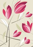 Tulip background. Repeat tulip background in pink and beige Royalty Free Stock Image