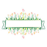 Tulip Banner Royalty Free Stock Photography