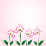 Tulip blossom vector background Royalty Free Stock Photo