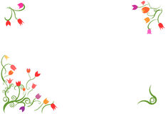 Tulip border frame vector Royalty Free Stock Images