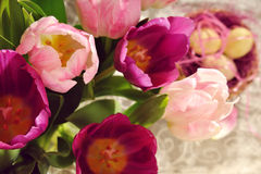 Tulip Bouquet at the eastern time Royalty Free Stock Photography