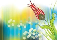 Tulip bouquet illustration design Stock Photography
