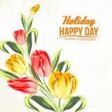 Tulip bouquet. Royalty Free Stock Photos