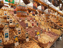 Tulip bulbs in Amsterdam. Flower market in Amsterdam Stock Photo