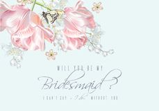 Tulip butterfly bridesmaid Royalty Free Stock Images