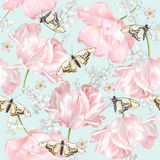 Tulip butterfly pattern Royalty Free Stock Images