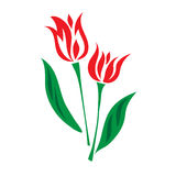 Tulip color flat icon, vector illustration Stock Photography