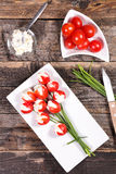 Tulip creative. With tomato and cheese for easter Royalty Free Stock Image