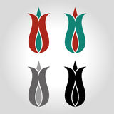 tulip logo, icon and symbol vector illustration Royalty Free Stock Image