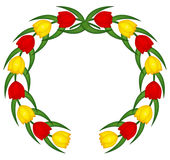 Tulip emblem Stock Photo