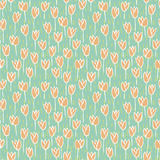 Tulip Field Seamless Pattern vector illustration