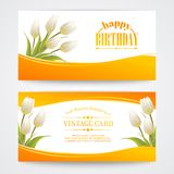 Tulip, floral background for your card Royalty Free Stock Images