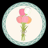 Tulip Flower Background Photo stock