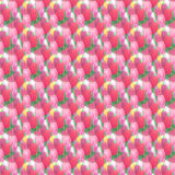 Tulip flowers background. Seamless pattern of tulip flowers. Texture field of tulips. Floral seamless pattern Royalty Free Stock Photo