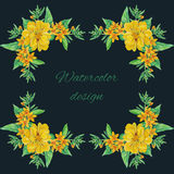 Tulip flowers bouquet decoration and text area stock illustration