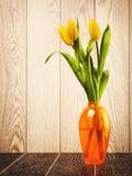 Tulip Flowers Bouquet In Vase Stock Photos