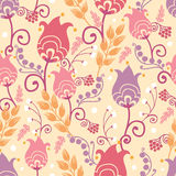 Tulip flowers seamless pattern background Stock Photography
