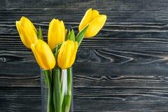Tulip Flowers in Vase Stock Photography