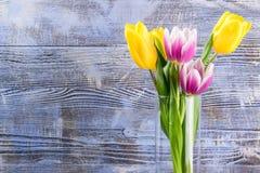 Tulip Flowers in Vase Stock Image
