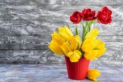 Tulip Flowers in Vase Royalty Free Stock Photos