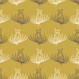 Tulip Folk Flower Stripes Seamless Vector Pattern. Spring Hand Drawn Floral Texture for Textile Print. Summer Decor, Nature Backdrop, Trendy Packaging, Garden vector illustration