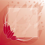 Tulip Frame Background. Red gradient Eps10 tulip frame background Royalty Free Stock Photography