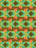 Tulip and leaves pattern Royalty Free Stock Photography