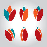 Tulip logo Stock Photo