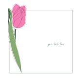 Tulip minimal card Royalty Free Stock Images