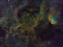 The Tulip Nebula. High resolution image of the Tulip Nebula in Cygnus royalty free stock photography