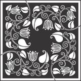 Tulip panel 4. Tulip panel drawing, can easily be used as a pattern Stock Photos