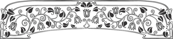 Tulip panel 2. Tulip panel drawing, can easily be used as a pattern Stock Photography